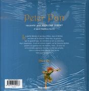 Peter pan - 4ème de couverture - Format classique