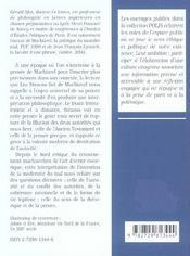 Leo Strauss Lecteur De Machiavel La Modernite Du Mal Petits Essais D'Ethique Et De Politique - 4ème de couverture - Format classique