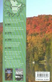 Québec (5e édition) - 4ème de couverture - Format classique