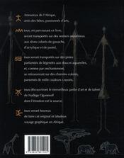 Animaux d'afrique, voyages graphiques de nadège oganesoff - 4ème de couverture - Format classique