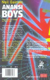 Anansi Boys - 4ème de couverture - Format classique