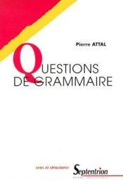 Questions de grammaire - Couverture - Format classique