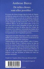 De Telles Choses Sont-Elles Possibles ? - 4ème de couverture - Format classique
