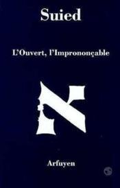 Ouvert l'imprononcable (l) - Couverture - Format classique