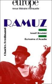 Ramuz - Couverture - Format classique