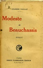 Modeste Et Beauchassis. - Couverture - Format classique