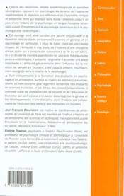 Histoire De La Psychologie - 4ème de couverture - Format classique