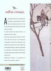 Les 7 vies de l'épervier t.1 ; la blanche morte - 4ème de couverture - Format classique