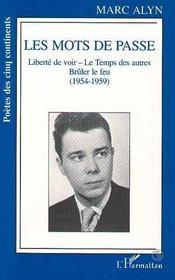 Les Mots De Passe : 1954-1959 - Intérieur - Format classique