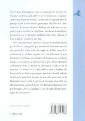 Charles De Foucauld - 4ème de couverture - Format classique