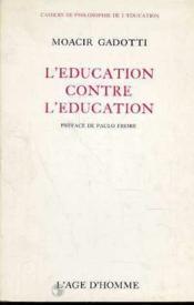 L'Education Contre L'Education - Couverture - Format classique