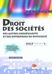 Cas Corriges Droit Des Societes Decf 1 - Intérieur - Format classique