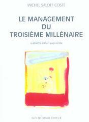 Le Management Du Troisieme Millenaire - Intérieur - Format classique