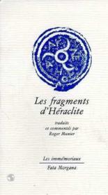 Les fragments d'Héraclite - Couverture - Format classique