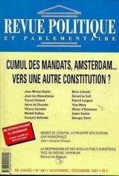 Revue Politique Et Parlementaire N°991 : Cumul Des Mandats, Amsterdam - Couverture - Format classique