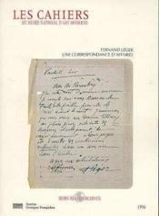 Une correspondance d'affaires fernand leger-leonce rosenberg 1917-1937 (hors-ser - Couverture - Format classique