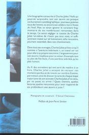 Charles Juliet D'Ou Venu ? - 4ème de couverture - Format classique