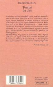 Tombe Du Ciel - 4ème de couverture - Format classique