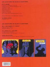 Blake Et Mortimer T.16 ; Les Sarcophages Du 6e Continent T.1 - 4ème de couverture - Format classique