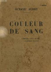 Couleur De Sang. - Couverture - Format classique