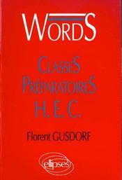 Words Classes Preparatoires Hec Vocabulaire Anglais - Intérieur - Format classique
