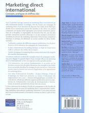 Marketing direct international ; concepts, pratiques et chiffres cles - 4ème de couverture - Format classique
