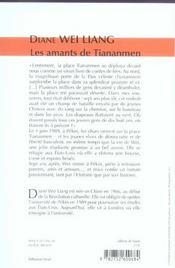 Les Amants De Tiananmen - 4ème de couverture - Format classique