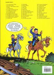 Les tuniques bleues t.38 ; les planqués - 4ème de couverture - Format classique