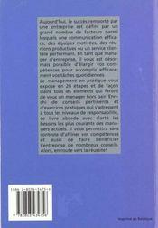 Le Management En Pratique - 4ème de couverture - Format classique
