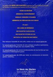Applications de management et gestion des unités commerciales pour BTS, MUC, 1ère année - 4ème de couverture - Format classique
