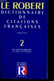 Citations francaise poche t2 - Couverture - Format classique
