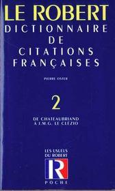 Le Dictionnaire Des Citations Francaises T.2 ; 20e Edition - Intérieur - Format classique