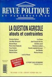 Revue Politique Et Parlementaire : La Question Agricole - Couverture - Format classique