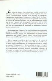 Ethique Et Fin De Vie - 4ème de couverture - Format classique