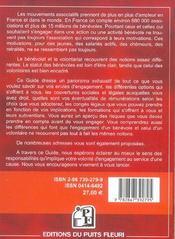 Benevolat Volontariat. Guide Juridique Et Pratique. Mouvements Associatifs, Miss - 4ème de couverture - Format classique