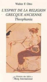 Esprit De La Religion Greque.Ancienne - Couverture - Format classique