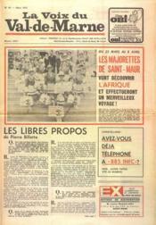 Voix Du Val De Marne (La) N°46 du 01/03/1972 - Couverture - Format classique