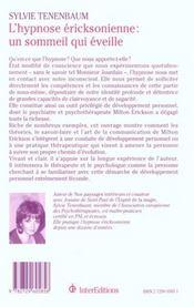 L'Hypnose Ericksonienne ; Un Sommeil Qui Eveille ; 2e Edition 2000 - 4ème de couverture - Format classique