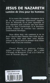 Jesus De Nazareth Lumiere De Dieu Pour Les Hommes - 4ème de couverture - Format classique