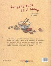Lili et le goût de la Chine - 4ème de couverture - Format classique