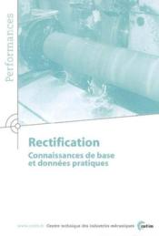 Rectification connaissances de base et données pratiques de performances 9q40 - Couverture - Format classique