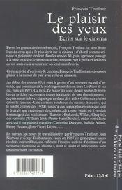 Plaisir Des Yeux (Le) - 4ème de couverture - Format classique