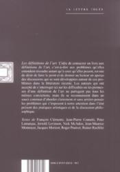 Definitions De L'Art (Les) - 4ème de couverture - Format classique