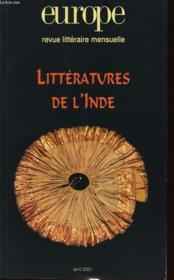 Revue Europe N.865 ; Littératures De L'Inde - Couverture - Format classique