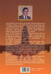 Chroniques aéronautiques ; les principaux éveènements de 2000 à 2003 - 4ème de couverture - Format classique