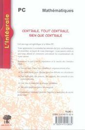 Centrale Pc 2002-2004 - 4ème de couverture - Format classique