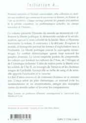 Initiation A L'Histoire Du Monde Au Xixe Siecle - 4ème de couverture - Format classique