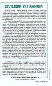 Civiliser Ou Bannir : Les Nomades Dans La Societe ... - 4ème de couverture - Format classique