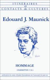 Edouard J. Maunick ; hommage - Couverture - Format classique