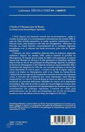 L'Italie Et L'Europe Vues De Rome ; Le Chasse-Croise Des Politiques Regionales - 4ème de couverture - Format classique